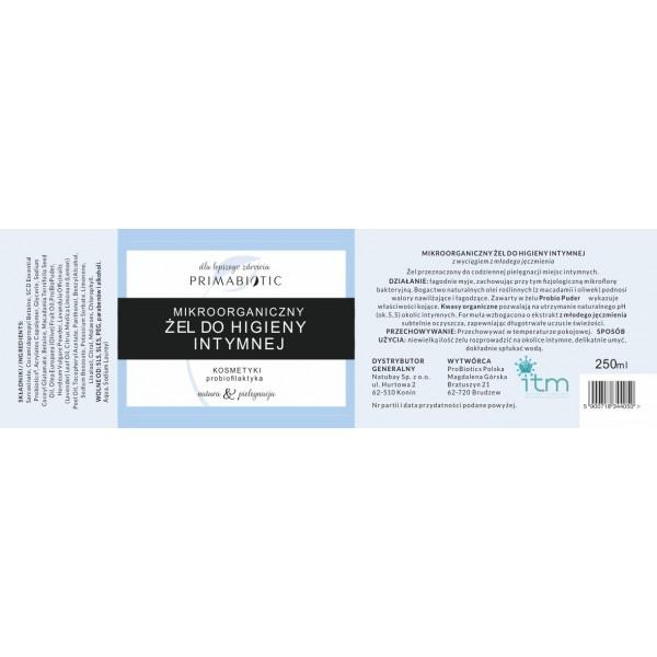 Mikroorganiczny Żel do higieny intymnej 250ml