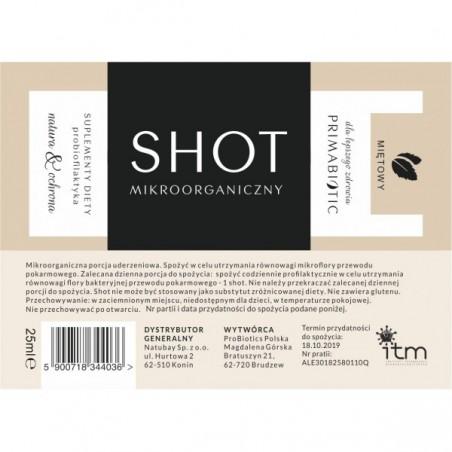 Shot probiotyczny cytrynowy 25ml