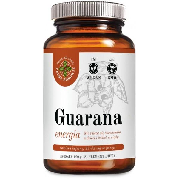 Guarana BIO 100 gram proszek PrimaZdrowie