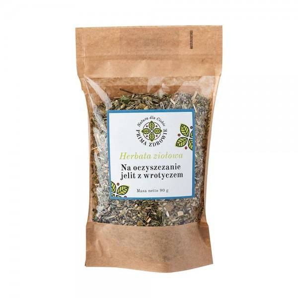 Herbatka ziołowa na zdrowe jelita z wrotyczem