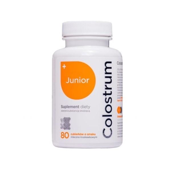 Colostrum JUNIOR drażetki rozpuszczalne w ustach 80 szt